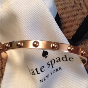 Kate spade rose gold studded bangle bracelet